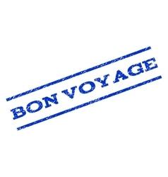 Bon voyage watermark stamp vector