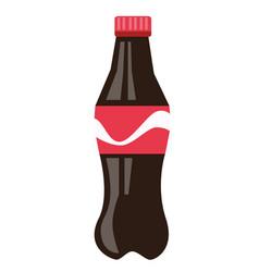 bottle of brown soda cartoon vector image
