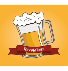 cartoon ice cool beer design design vector image