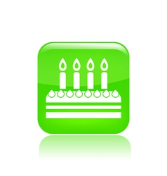 celebration cake icon vector image