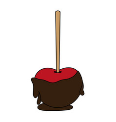 chocolate apple icon image vector image vector image