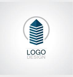 Circle building cityscape logo vector