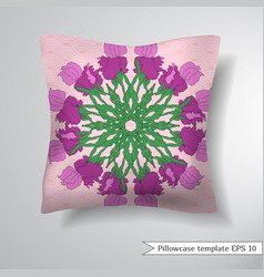 Creative sofa square pillow vector