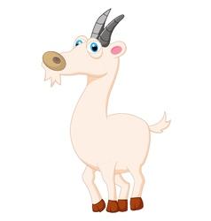 Cute goat posing cartoon vector