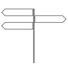 Direction sign the black color icon vector