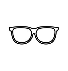 Eye glass isolated icon vector