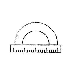 figure measuring ruler school tool design vector image vector image