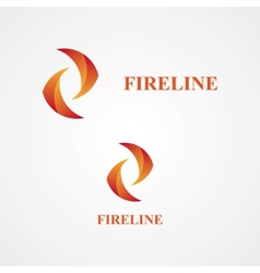 Fire abstract logo vector image