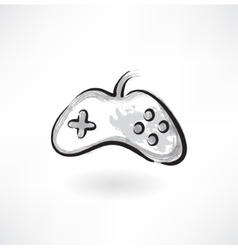 Gamepad grunge icon vector