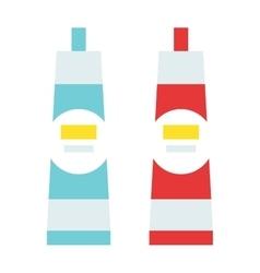 Glue tube cartoon flat vector