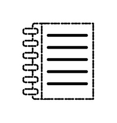 notebook page isolated vector image vector image