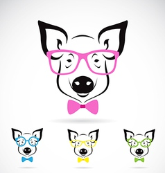 Pig glasses vector image vector image