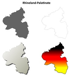 Rhineland-Palatinate blank outline map set vector image vector image
