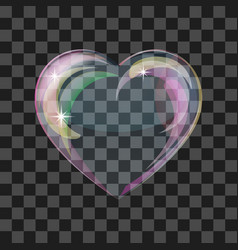Shiny bubble heart vector image vector image