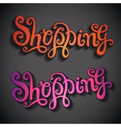 Shopping hand lettering vector image vector image