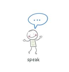 speak vector image vector image