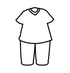 Sport wear clothes icon vector