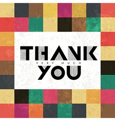 thank you colorful vector image vector image