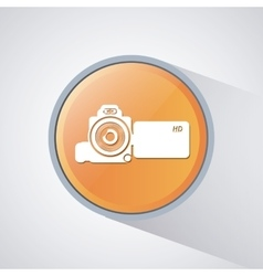 Video movie and media design vector