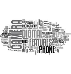 What s new with cellphone cameras text word cloud vector
