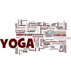 Yoga for modern city life yoga helps ease modern vector
