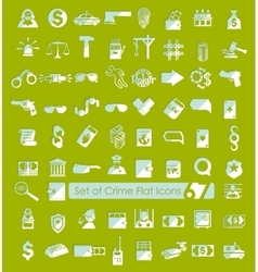 Set of crime icons vector