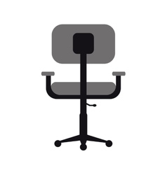 Monochromatic chair office comfort workplace vector
