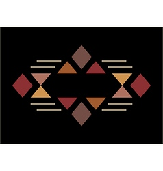 Traditional culture inspired simple geometric vector