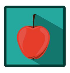 emblem apple icon image vector image