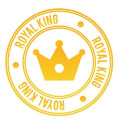 Royal king stamp vector