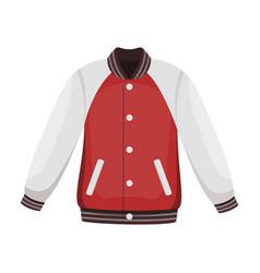 uniform baseball jacket baseball single icon in vector image