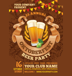 Oktoberfest beer party template vector