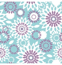 Purple and blue floral abstract seamless pattern vector image