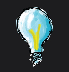 Hand drawn bulb vector