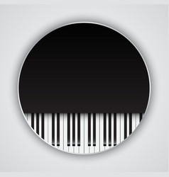 Background with piano keys vector