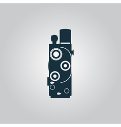 Retro movie camera vector
