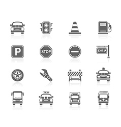 Black icons - traffic vector