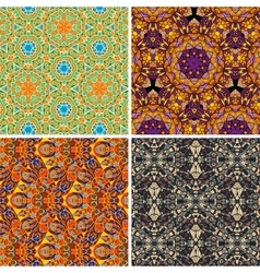 Colorful seamless pattern oriental vector