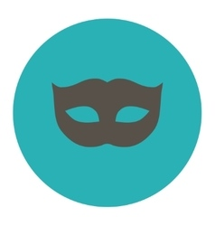 Privacy mask flat grey and cyan colors round vector