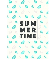 Set trendy linear style summer time poster icons vector