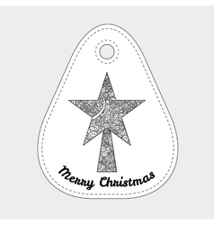 Toys on christmas tree - star christmas vector
