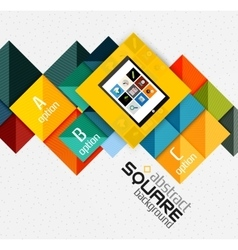Geometric square shapes and infographic option vector