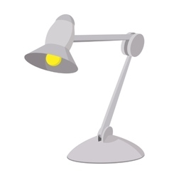 Desk lamp cartoon icon vector image