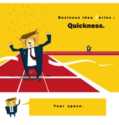 Business idea series quickness vector