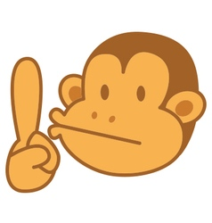 Face Monkey vector image