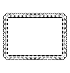 Ornamental frame with hearts vector