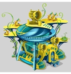 Scientific underwater station cartoon location vector