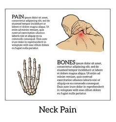 Pain in the neck of a man vector
