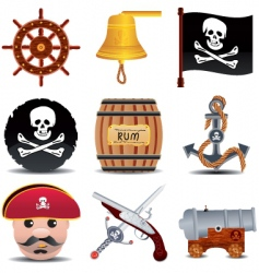 pirate icon vector image