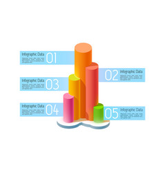abstract business infographic concept vector image vector image